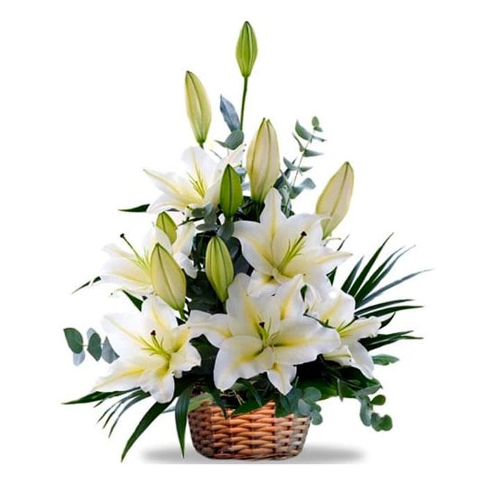 Canasta-flores-Bancas_Flores Cali es Cali