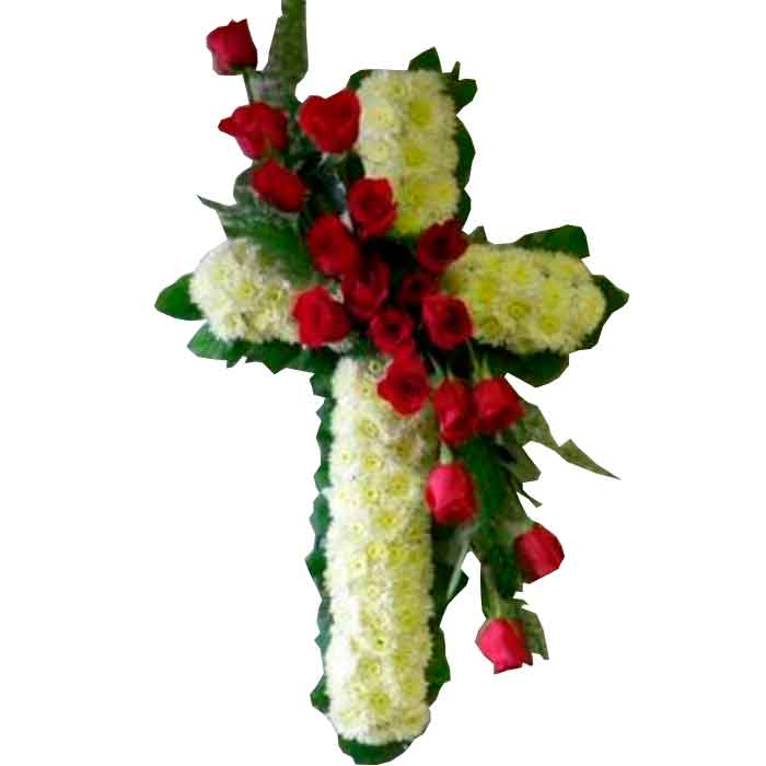 Corona-Cruz-Funbre-Cali-roja-con-blanco_floristerias-en-cali