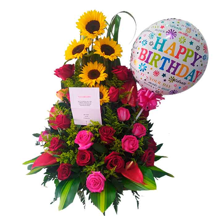 Flores-happy-birthday_Floristerias-en-cali