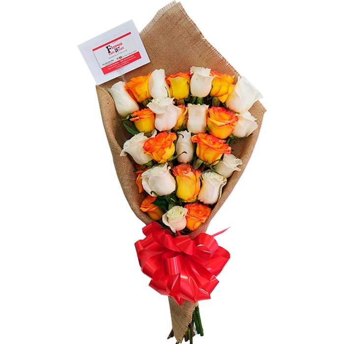Bouquet-de-rosas-amarillas-y-Blancas-Floristerias-en-cali
