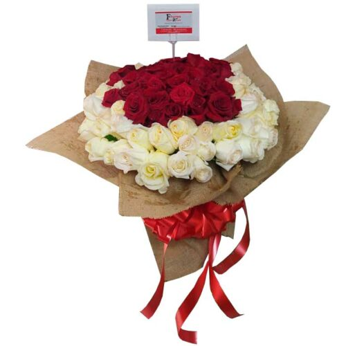 Bouquet-de-100-Rosas-Blancas-y-Rojas_Floristeria-En-Cali
