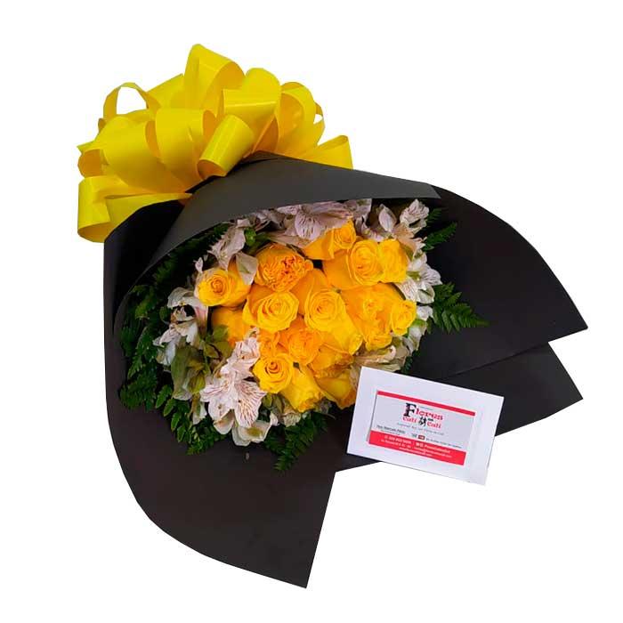 ramo-de-flores-amarillas-Floristerias-en-Cali